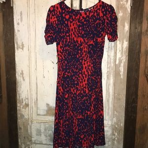 Women's ASOS Dress in Red and Navy, 2